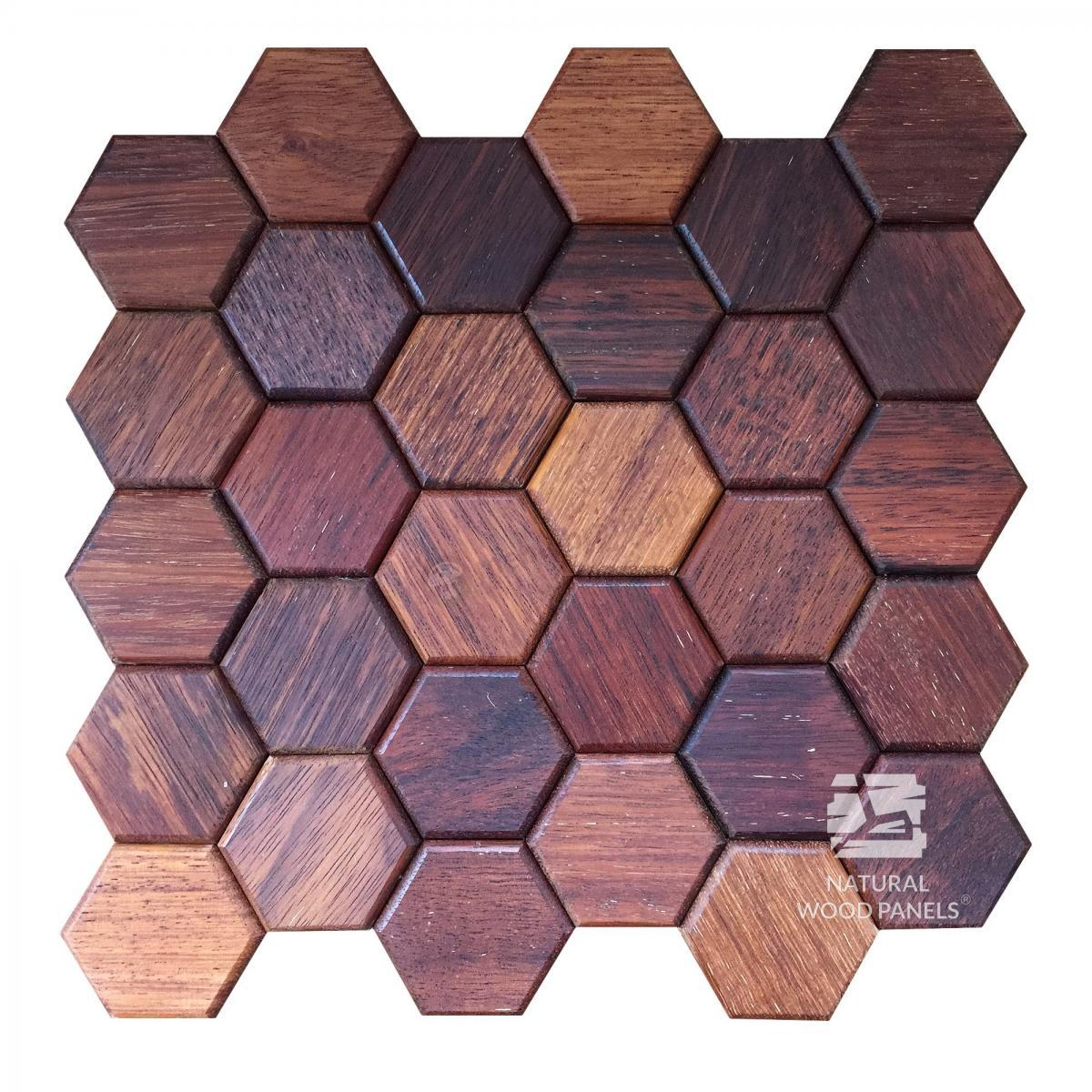 Merbau Hexagon series Natural Wood Panels