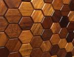 Hexagon series – Merbau - Natural Wood Panels