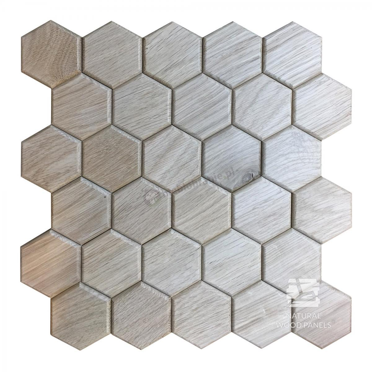 Dąb natur Hexagon series Natural Wood Panels