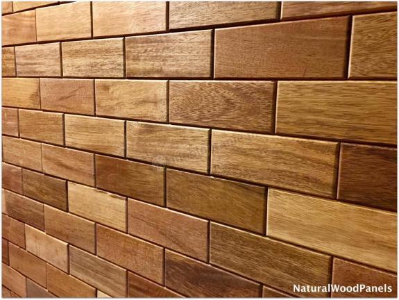 MERBAU – Cegiełka - Natural Wood Panels - 1m2