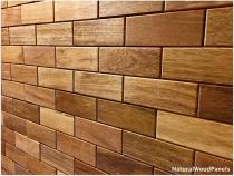 MERBAU – Cegiełka - Natural Wood Panels - 1m2