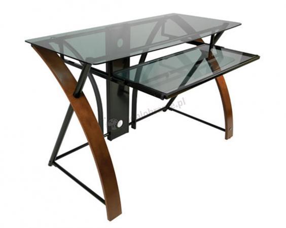 Roni Bell'O szklane biurko komputerowe eleganckie
