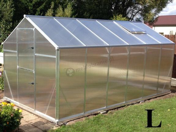 Szklarnia ogrodowa mała Gampre L-10 2,2x4,3x2,1 m (9,5m2)