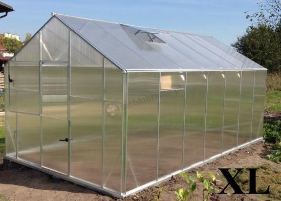 Szklarnia ogrodowa poliwęglan Gampre XL-12 2,9x4,3x2,25 m (12,5m2)