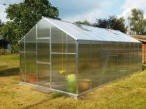 Duża szklarnia ogrodowa Gampre XL-18 2,9x6,4x2,25m (18,6m2)