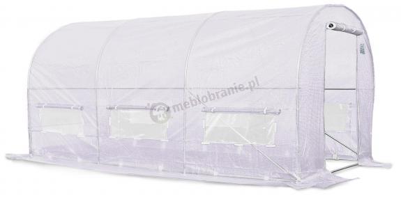 Tunel foliowy 4*2,5m - biała siatka wzmacniajaca