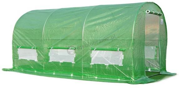 Tunel foliowy 4*2,5m - zielona siatka wzmacniajaca