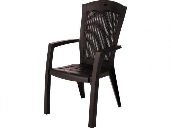 Krzesło ogrodowe Minnesota Dining brązowe