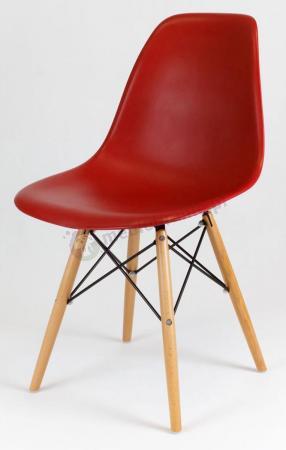 Krzesło skandynawskie ceglaste