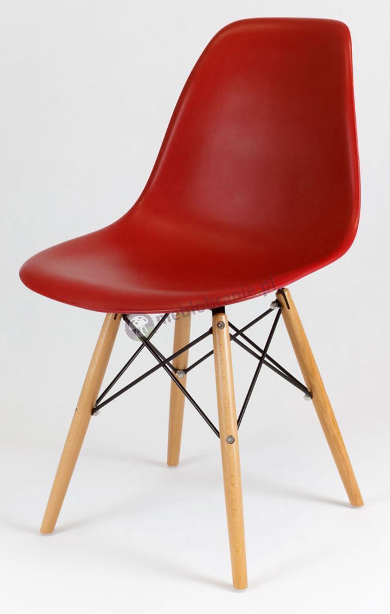 Krzesło skandynawskie ceglasty KR012 drewniane nogi