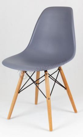 Eames krzesło skandynawskie szare