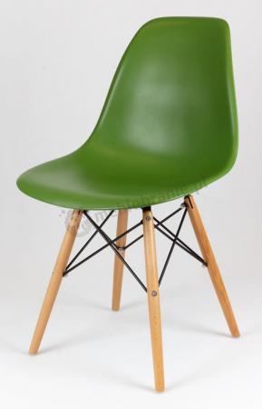 Krzesło zielone skandynawskie