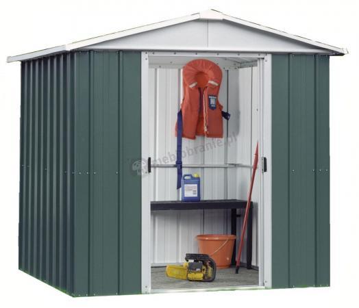 Yardmaster 67 GEYZ blaszany domek narzędziowy 2x2 Emerald Deluxe (4,38m2)