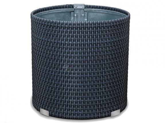 Cylindryczna donica z technorattanu 38