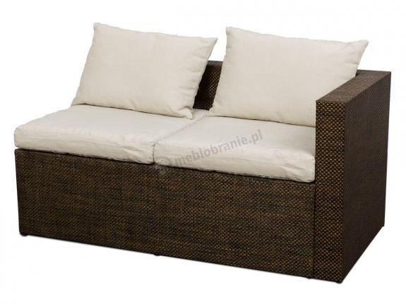 Sofa ogrodowa z technorattanu GONG bez podłokietnika