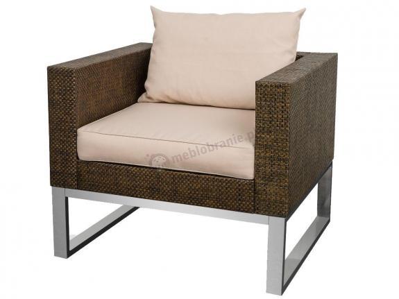 Fotel ogrodowy technorattan aluminiowy ZONK