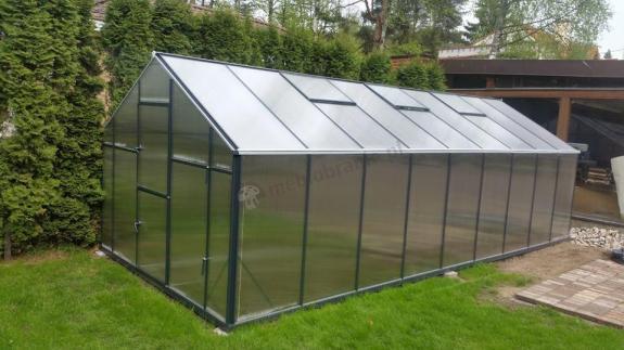 Szklarnia aluminiowa ogrodowa Gampre L-12 2,2x5,7x2,1 m (12,6m2)