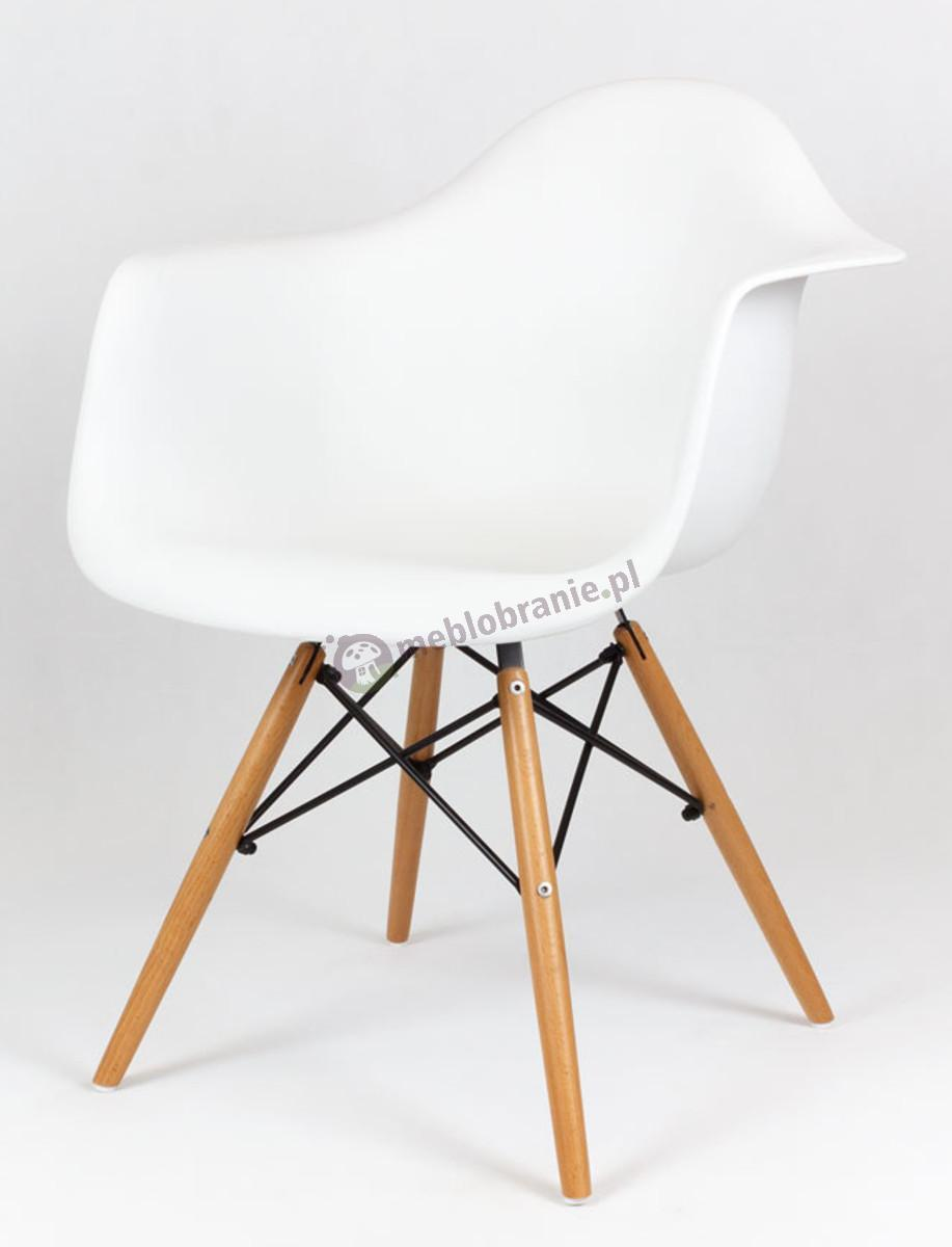 KR012F Mondi krzesło design białe drewniane nogi