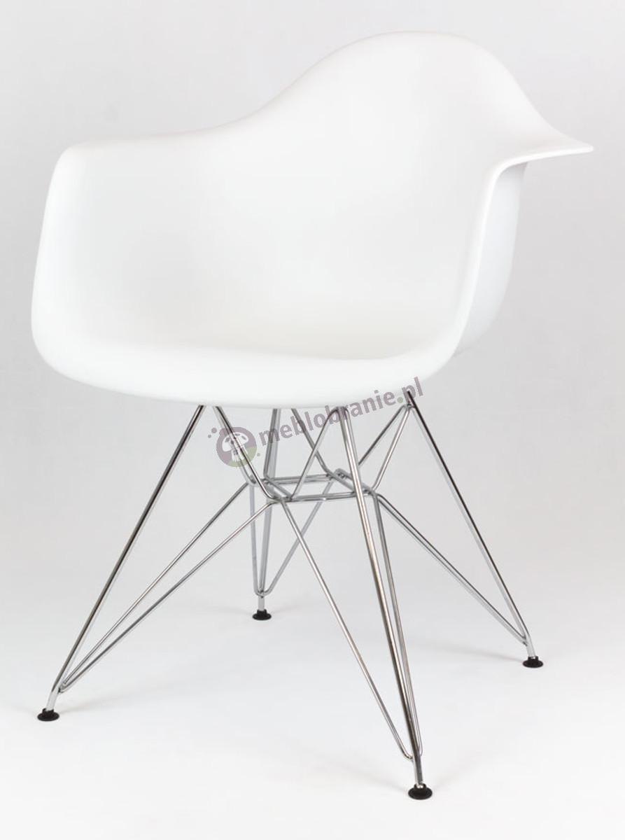 KR012F Mondi krzesło białe design metalowe nogi