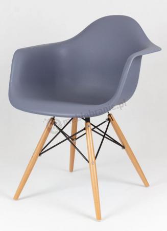 Krzesło z podłokietnikami ciemno szare