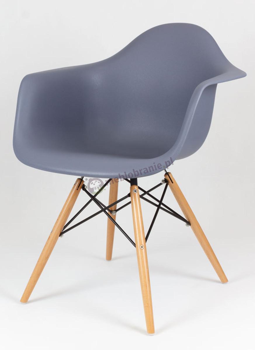 KR012F Mondi krzesło nowoczesny design ciemny szary drewno