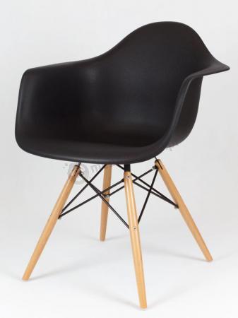 Krzesło KR012F z podłokietnikami czarne