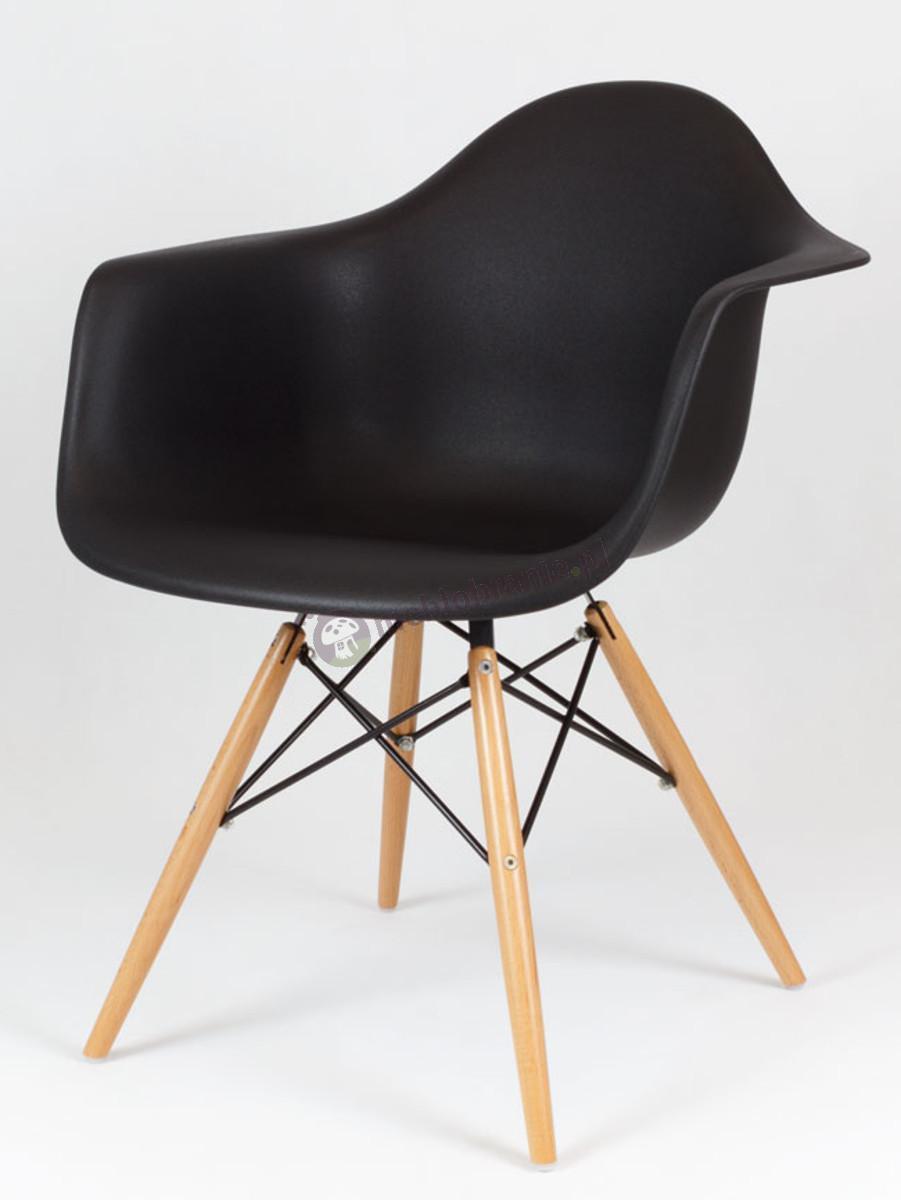 KR012F Mondi design krzesło czarne drewniane nogi