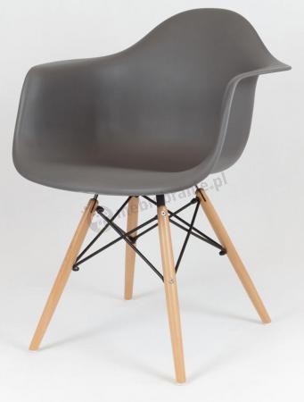 Krzesło biurowe grafitowe podłokietniki