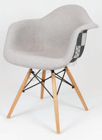 Krzesło KR012F jasnoszare krata podłokietniki