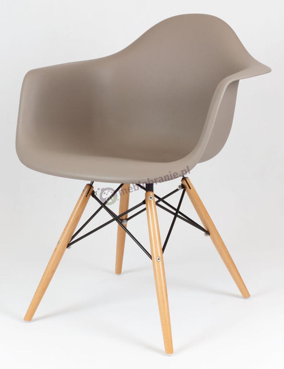 KR012F fotel nowoczesny design kawa z mlekiem drewno