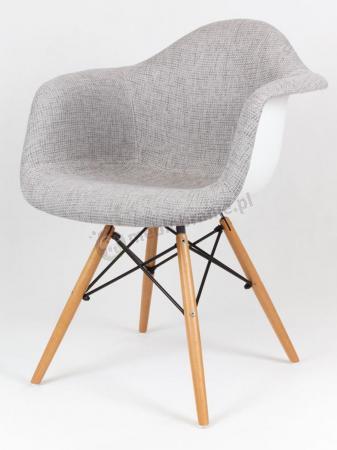 Krzesło jasnoszare KR012F z drewnianymi nogami