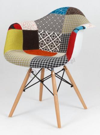Krzesło do jadalni tapicerowane KR012F Patchwork2
