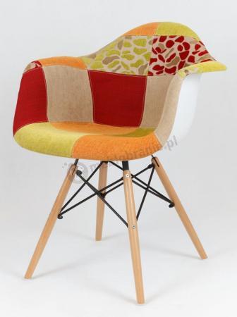 Krzesło KR012F Patchwork 4 z podłokietnikami