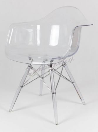 Krzesło KR012F podłokietniki transparentne lodowe