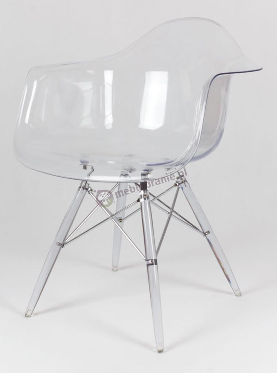 KR012F Mondi nowoczesne krzesło plastikowe transparentne lodowe