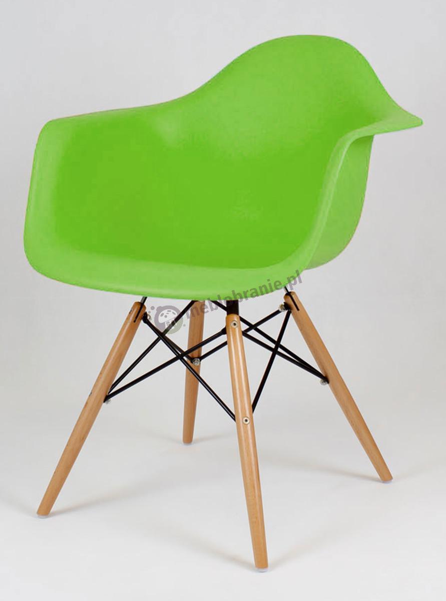 KR012F Mondi nowoczesne krzesło do salonu zielony drewno