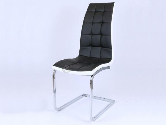KS027 Swing krzesło nowoczesne czarne tapicerowane