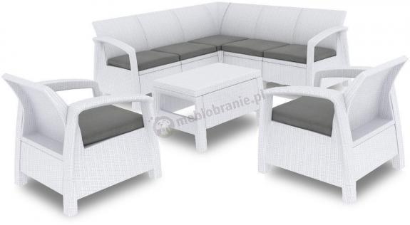 Corfu Relax Duo białe meble ogrodowe do samodzielnego montażu