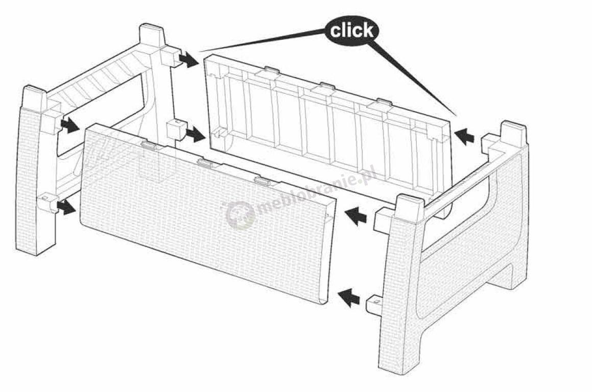 Meble Ogrodowe Do Samodzielnego Składania : Corfu Relax Duo meble ogrodowe do samodzielnego montażu  Meblobranie