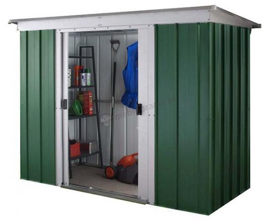 Yardmaster 104 GPZ szopa ogrodowa metalowa Emerald Dark (3,5m2)
