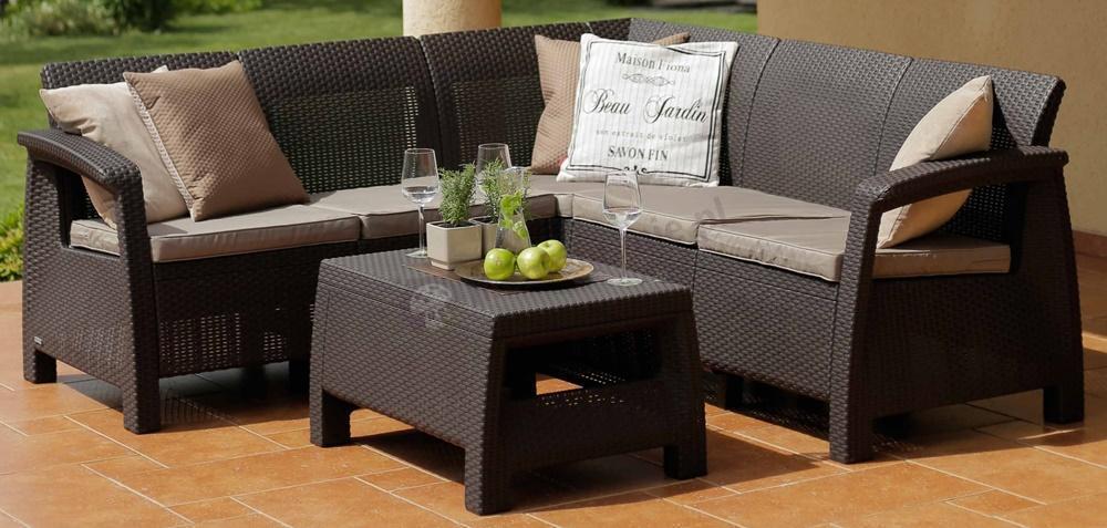 Meble Ogrodowe Corfu Set Triple Max Meblobranie : Corfu Relax Duo Max cappuccino ogrodowy zestaw wypoczynkowy