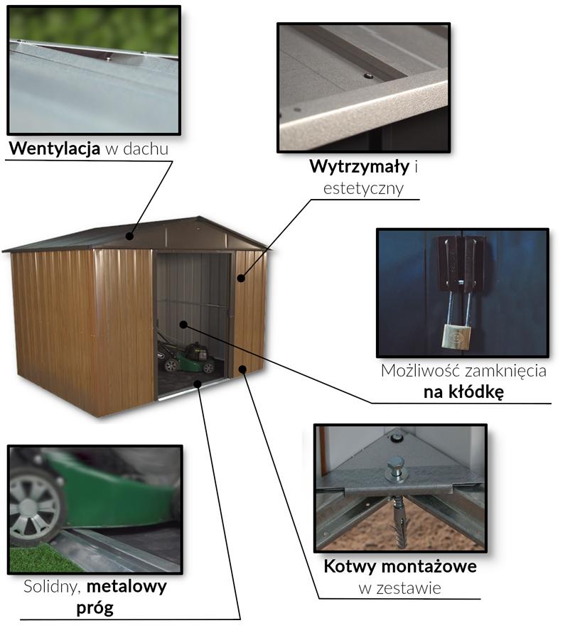 Cechy modeli Yardmaster WGY domki ogrodowe