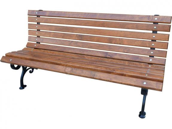 Ławka Klasyczna z drewnianym oparciem 11 desek 180cm