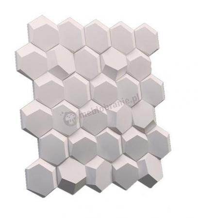 Gipsowe panele dekoracyjne 3D na ścianę Hexago - ZD Design
