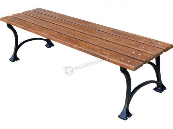Żeliwna ławka bez oparcia Miejska - taboret parkowy 180cm