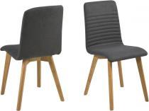 Actona Arosa krzesło do jadalni nowoczesne grafitowe