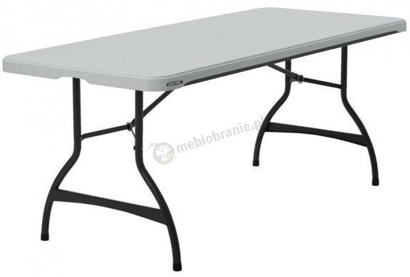 WYPRZEDAŻ - Cateringowy stół do sztaplowania 183 cm biały granit