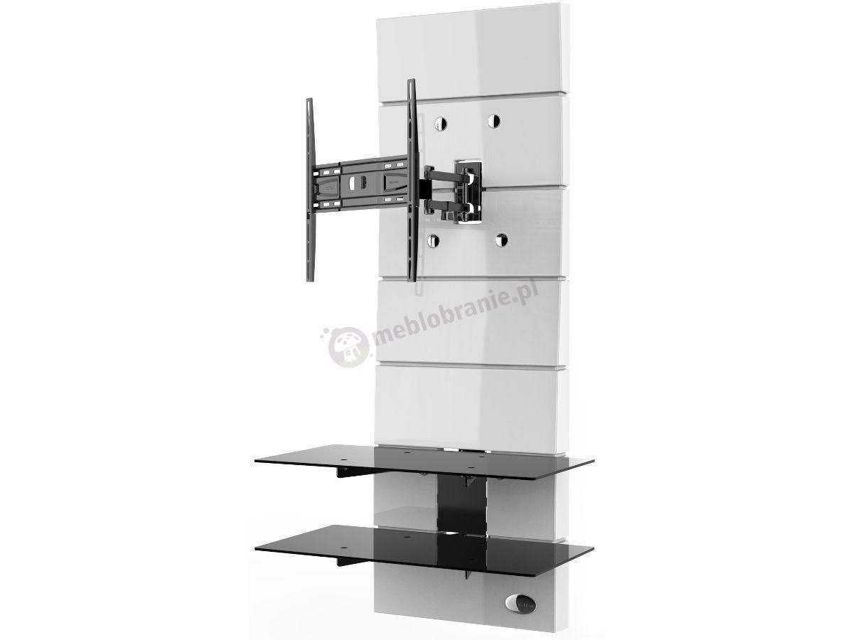 Wieszak panel na telewizor meliconi ghost design 3000 rotation white - Television pas cher conforama ...