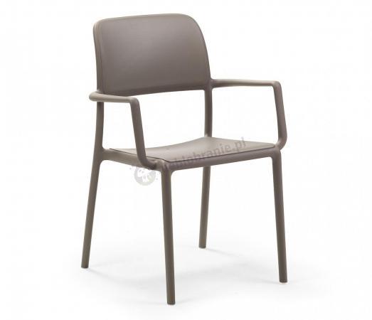 Nardi Riva krzesło balkonowe plastikowe Tortora