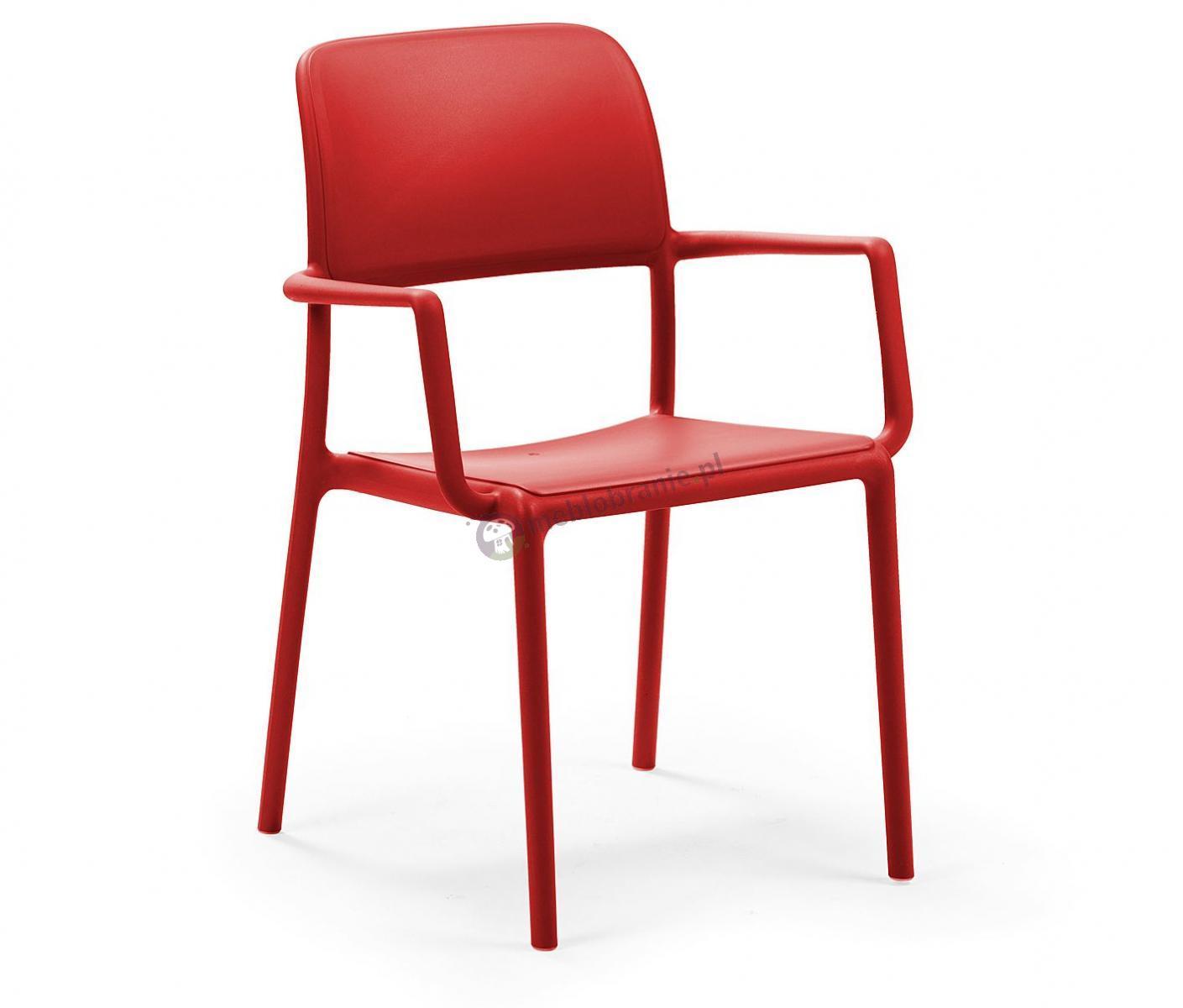 Nardi Riva krzesło balkonowe plastikowe Rosso